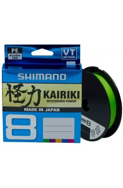 Шнур Shimano Kairiki 8 PE (Mantis Green) 300m 0.42mm 46.7kg