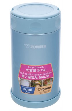 Пищевой термоконтейнер ZOJIRUSHI SW-FCE75AB 0.75 л ц:синий