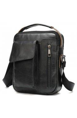 Мужская сумка B10-8211 из натуральной кожи, черная Черный
