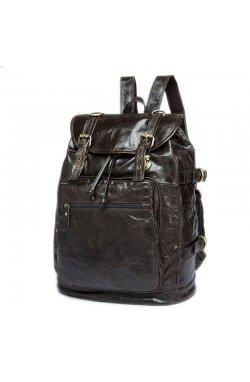 Рюкзак из натуральной кожи B10-8818 Joynee Dark grey - темно-сёрый