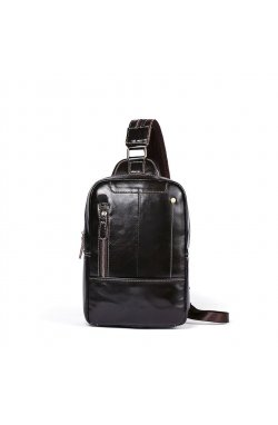 Мини-рюкзак кожаный на одно плечо B10-8210 Joynee Коричневый