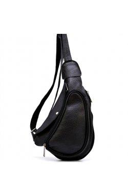 Мини-рюкзак из натуральной кожи на одно плечо FA-3026-3md TARWA Черный