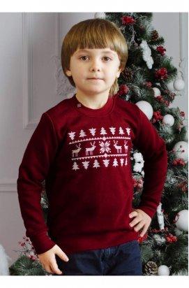 Свитер с оленями детский (свитшот рождественский)