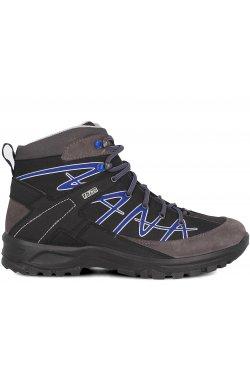 Треккинговые ботинки Forester 3752-V1 унисекс (чёрный/серый)