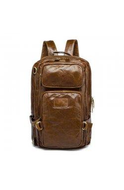 Мужской рюкзак из винтажной кожи B10-8856 Joynee Коричневый