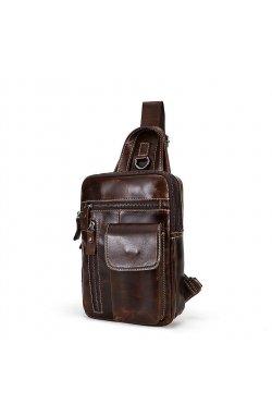 Мини-рюкзак кожаный на одно плечо, коричневый B10-8871 Joynee Коричневый