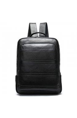 Кожаный рюкзак для мужчин B10-8878 бренд Jonee Черный