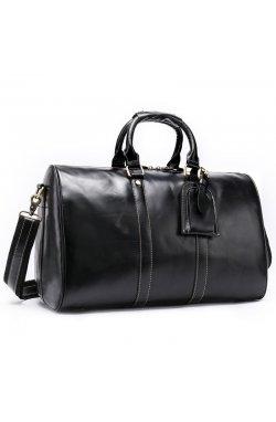 Кожаная дорожная сумка Joynee B10-9016 черная Черный