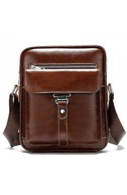Мужская сумка мессенджер из натуральной кожи BD10-8516 Коричневый