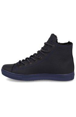 Мужские зимние кеды Forester Whool Navy 132125-8984 (тёмно-синий)