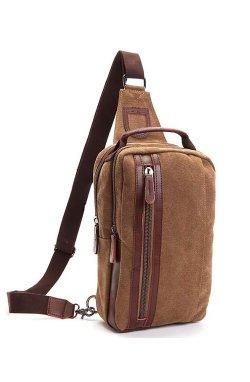 Мессенджер Tiding Bag 8664B - Canvas, коричневый