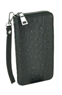Клатч Tiding Bag A25F-6002-9A - Натуральная кожа, черный