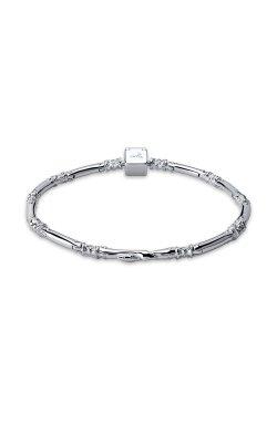 Серебряный браслет snake из родированного серебра 925-й пробы (51143 2)