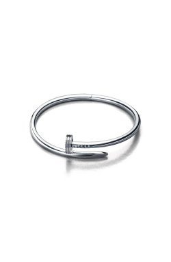 Серебряный браслет гвоздь из родированного серебра 925-й пробы (511406 )