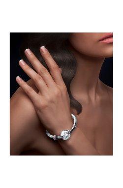 Серебряный браслет альтерна из родированного серебра 925-й пробы с куб. циркониями эмалью (5 357 )