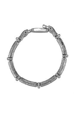 Серебряный браслет лебедь из родированного серебра 925-й пробы с куб. циркониями эмалью (5 304 )