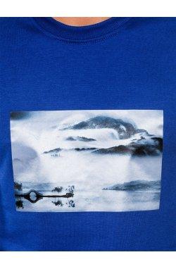 Свитшот мужской с надписью S983 - голубой