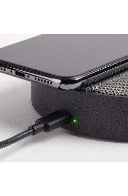 Беспроводное зарядное устройство с динамиком на 5 Вт, серый - wos7668
