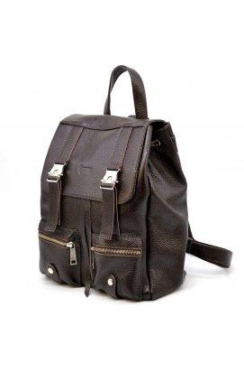 Шкіряний рюкзак зі шкіри флотар FC-3016-4lx TARWA темно-коричневий Коричневий