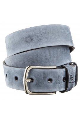 Ремінь чоловічий GRANDE PELLE 11139 джинсовий Синій, Синій