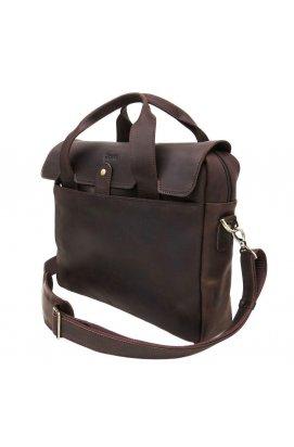 Мужская повседневная сумка-портфель из натуральной кожи RС-1812-4lx TARWA Коричневый