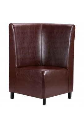 Диван Хіт кутовий на ніжках (Н100), венге, 670 * 670 * 1100Н Мадрас дк браун - AMF - 045899