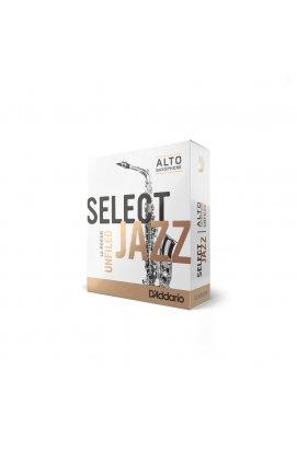 Тростини для духових D`ADDARIO RRS10ASX3M Select Jazz - Alto Sax Unfiled 3M - 10 Box