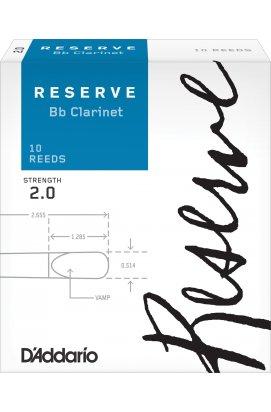 Тростини для духових D`ADDARIO DCR1020 Reserve Bb Clarinet # 2.0 - 10 Box
