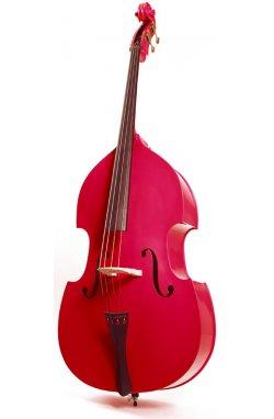 Контрабас STENTOR 1950LCRD Harlequin Rockabilly Double Bass 3/4 (RED)