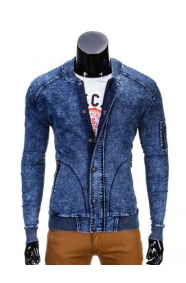 Куртка бомбер мужская демисезонная K240 - jeans
