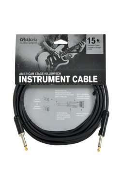 Кабель PLANET WAVES PW-AMSK-15 AMERICAN STAGE STAGE KILL SWITCH 15ft