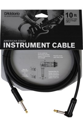 Кабель PLANET WAVES PW-AMSGRA-10 American Stage, Right to Straight 10ft