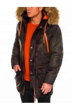Мужская куртка зимняя парка C358 - моро