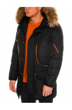Мужская куртка зимняя парка C369 - черная