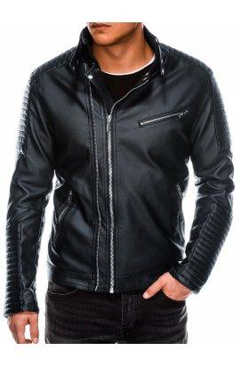 Мужская мотоциклетная куртка C413 - чёрная - Ombre
