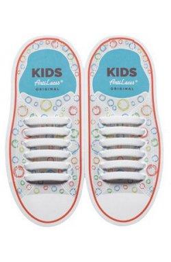 Дитячі прямі силіконові антишнурки для кросівок и кед