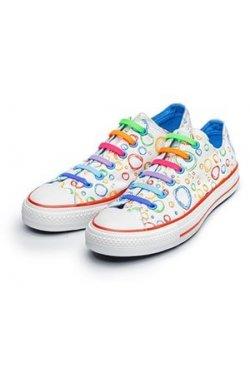 Косі силіконові шнурки (антишнурки) для кросівок и кед