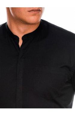 Мужская рубашка элегантная с длинным рукавом K307 - черная - Ombre