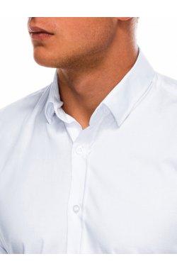 Мужская рубашка с длинным рукавом K504 - белая - Ombre