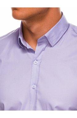 Мужская рубашка с длинным рукавом K504 - фиолетовая - Ombre