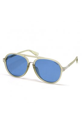 Солнцезащитные очки Polaroid PLD2077/F/S-KB7-C3 - авиатор, Цвет линз - синий