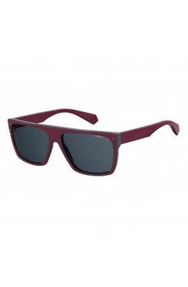 Солнцезащитные очки Polaroid PLD6086/S/X-FSF-C3 - квадратные, Цвет линз - синий