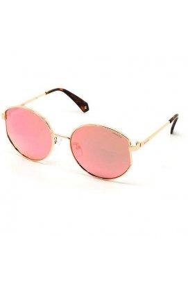 Солнцезащитные очки Polaroid PLD6072/F/S/X-210-0J - скошенный круг , Цвет линз - серый