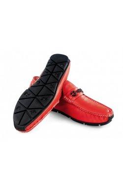 Мокасины мужские Clemento 7201310 цвет красный, кожа