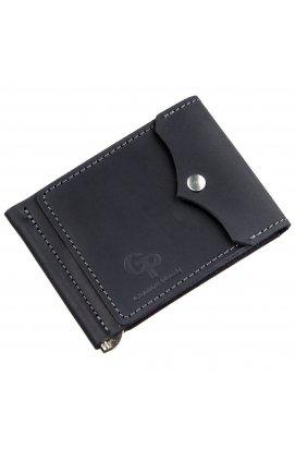 Компактный зажим для денег GRANDE PELLE 11196 Черный, Черный