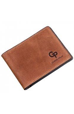 Компактный зажим для денег без застежки GRANDE PELLE 11240 Коричневый, Коричневый