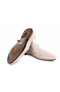 Туфли мужские Carlo Delari 7202008 цвет бежевый, кожа