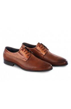 Туфли мужские Carlo Delari 7202026 цвет коричневый, кожа