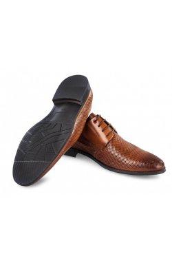 Туфли мужские Carlo Delari 7202091 46 цвет коричневый, кожа