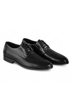 Туфли мужские Carlo Delari 7202098 37 цвет черный, кожа